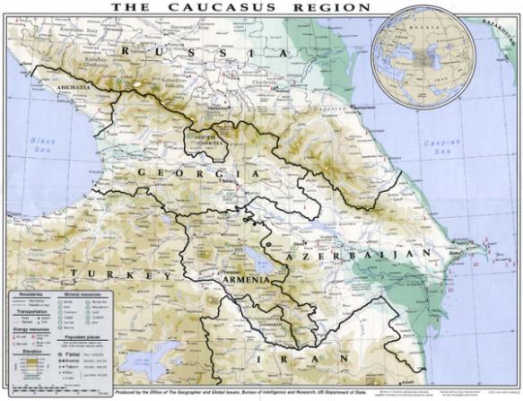 Georgia and Armenia Caucasus Region